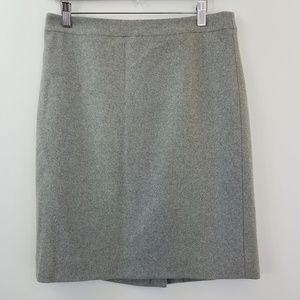 NWT J. Crew The Pencil Skirt Gray Wool Blend 6